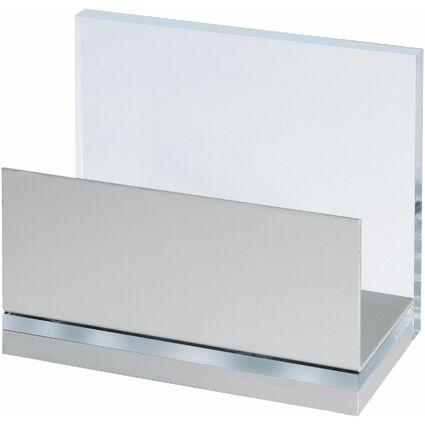 MAUL Kartenständer MAULacro, Acryl/Aluminium, glasklar