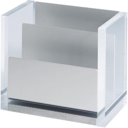 MAUL Zettelbox MAULacro, Acryl/Aluminium, glasklar