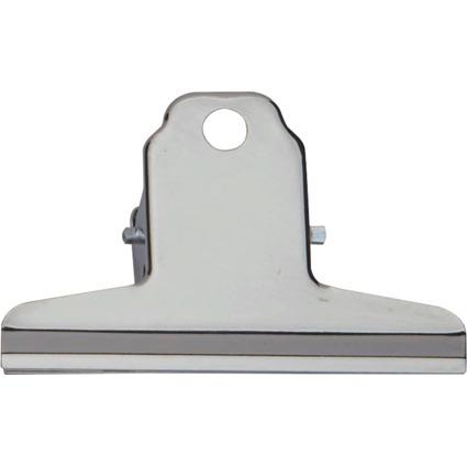 MAUL Briefklemmer aus Stahl, Farbe: nickel, Breite: 75 mm
