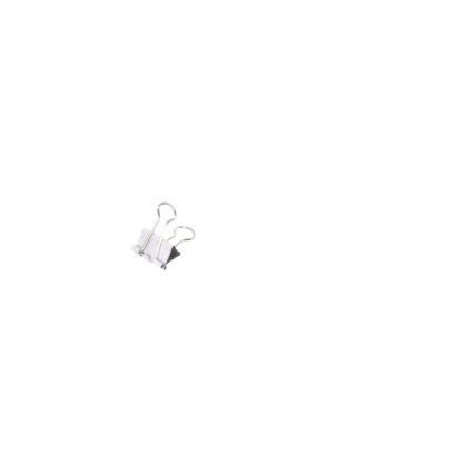 MAUL mauly 214 Foldback-Klammer, weiß, (B)19 mm
