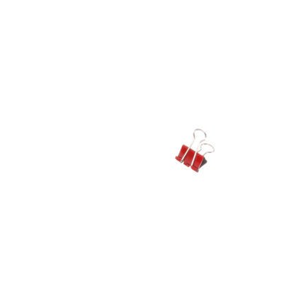 MAUL mauly Foldback-Klammer, rot, (B)19 mm, Inhalt: 12 Stück