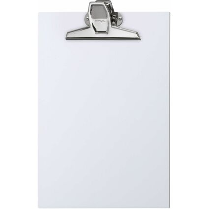 MAUL Klemmbrett A4, weiß, bruchsicherer Kunststoff