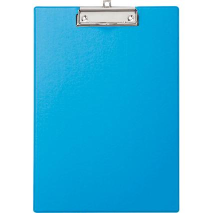 MAUL Klemmbrett, DIN A4, mit Folienüberzug, hellblau
