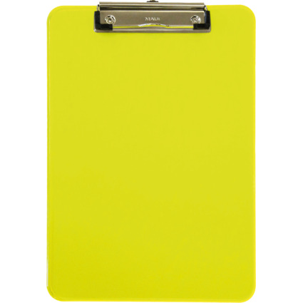 MAUL Klemmbrett MAULneon, DIN A4, transparent-gelb