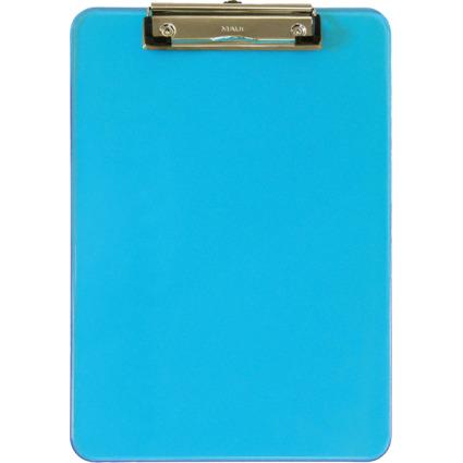 MAUL Klemmbrett MAULneon, DIN A4, transparent-blau