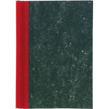MAUL Klemmbinder A4, Deckel marmoriert, Rücken rot