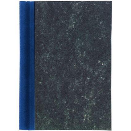 MAUL Klemmbinder A4, Deckel marmoriert, Rücken blau