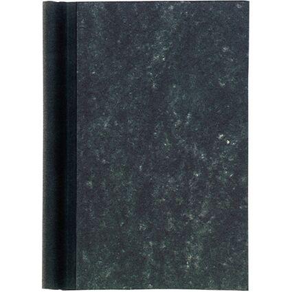 MAUL Klemmbinder A4, Deckel marmoriert, Rücken schwarz