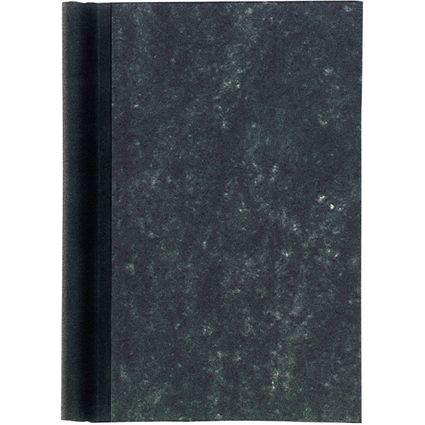 MAUL Klemmbinder A5, Deckel marmoriert, Rücken schwarz