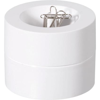 MAUL Klammernspender MAULpro, rund, Durchmesser: 73 mm, weiß