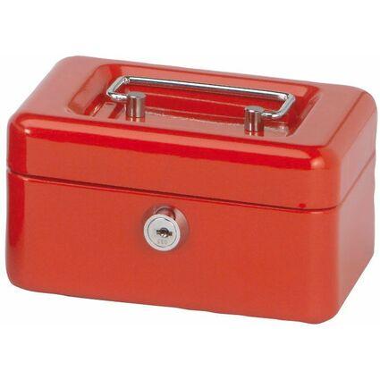 MAUL Geldkassette, rot, Maße: (B)152 x (T)125 x (H)81 mm