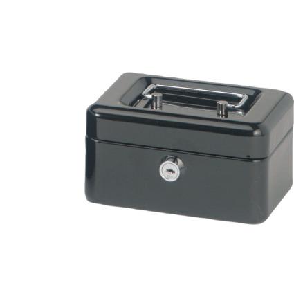 MAUL Geldkassette, schwarz, Maße: (B)152 x (T)125 x (H)81 mm