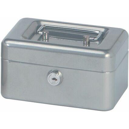 MAUL Geldkassette, silber, Maße: (B)152 x (T)125 x (H)81 mm