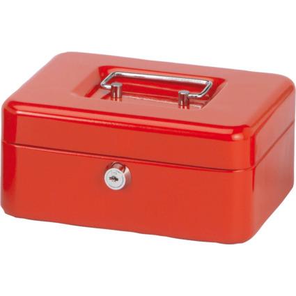 MAUL Geldkassette, rot, Maße: (B)200 x (T)170 x (H)90 mm