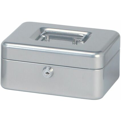 MAUL Geldkassette, silber, Maße: (B)200 x (T)170 x (H)90 mm