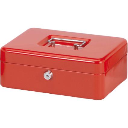 MAUL Geldkassette, rot, Maße: (B)250 x (T)191 x (H)90 mm