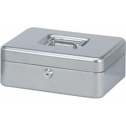 MAUL Geldkassette, silber, Maße: (B)250 x (T)191 x (H)90 mm