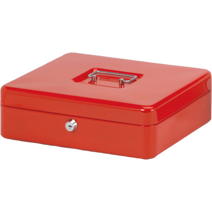 MAUL Geldkassette, rot, Maße: (B)300 x (T)245 x (H)90 mm