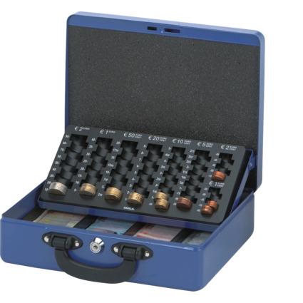 MAUL Geldkassette mit Zähleinsatz, blau