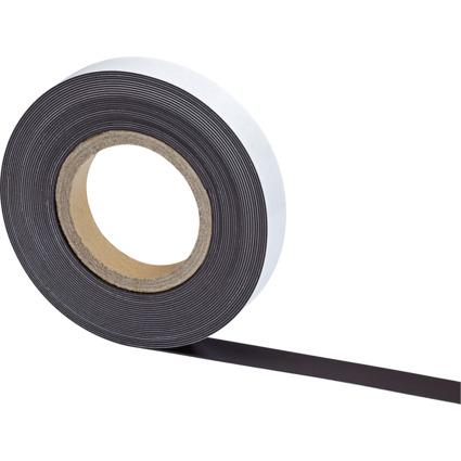 MAUL Magnetband, Länge: 10 m, Breite: 25 mm, schwarz