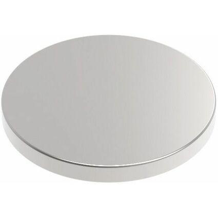 MAUL Neodym-Magnet, Durchmesser: 10 x (H)1 mm, nickel
