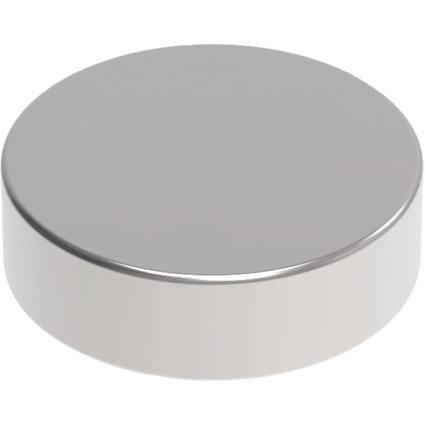 MAUL Neodym-Magnet, Durchmesser: 10 x (H)3 mm, nickel