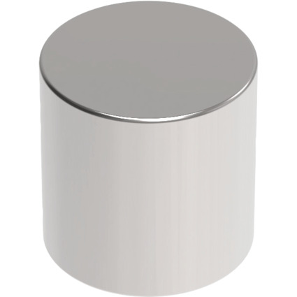 MAUL Neodym-Zylindermagnet, 10 x 10 mm, nickel