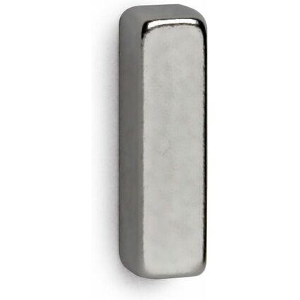 MAUL Neodym-Stabmagnete, (B)4 x (T)15 x (H)4 mm, nickel