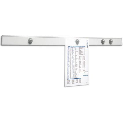 "MAUL Magnet-Wandschiene ""design"", Länge: 1.000 mm, grau"