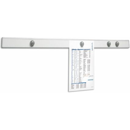 "MAUL Magnet-Wandschiene ""design"", Länge: 1.000 mm, silber"