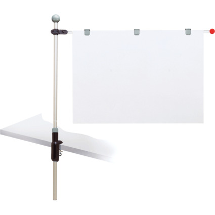"""MAUL Planhalter """"Tischpresenter"""", grau, mit Klemmfuß"""