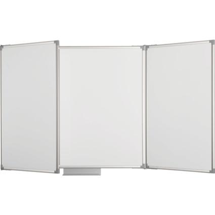 MAUL Weißwand-Klapptafel, Schreibfläche: 3,6 qm, grau
