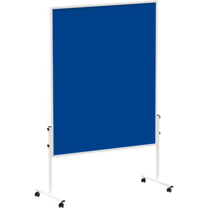 MAUL Moderationstafel solid, 1.500 x 1.200 mm, Filz blau