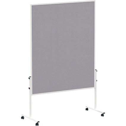 MAUL Moderationstafel solid, 1.500 x 1.200 mm, Filz grau