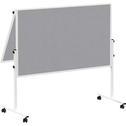 MAUL Moderationstafel solid, klappbar, 1.200 x 1.500, grau