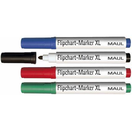 MAUL Flipchart-Marker XXL, sortiert, 4er Set