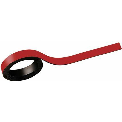MAUL Magnetstreifen, (B)10 mm (L) 1.000 mm, rot
