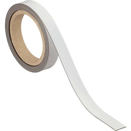 MAUL Magnetband, 20 mm x 3 m, Dicke: 1 mm, weiß