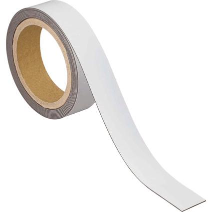 MAUL Magnetband, 30 mm x 3 m, Dicke: 1 mm, weiß