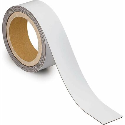 MAUL Magnetband, 40 mm x 3 m, Dicke: 1 mm, weiß