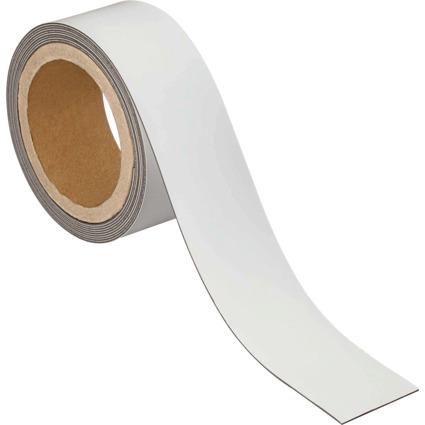 MAUL Magnetband, 50 mm x 3 m, Dicke: 1 mm, weiß
