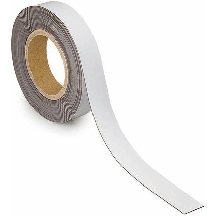 MAUL Magnetband, 30 mm x 10 m, Dicke: 1 mm, weiß