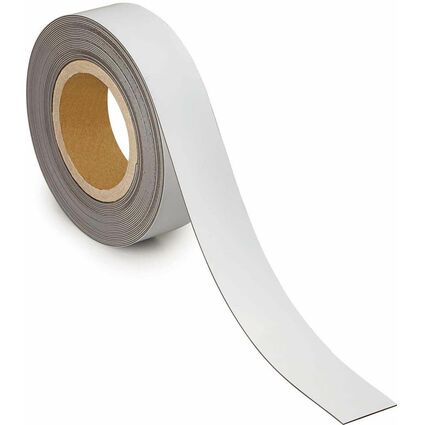 MAUL Magnetband, 40 mm x 10 m, Dicke: 1 mm, weiß