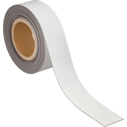 MAUL Magnetband, 50 mm x 10 m, Dicke: 1 mm, weiß