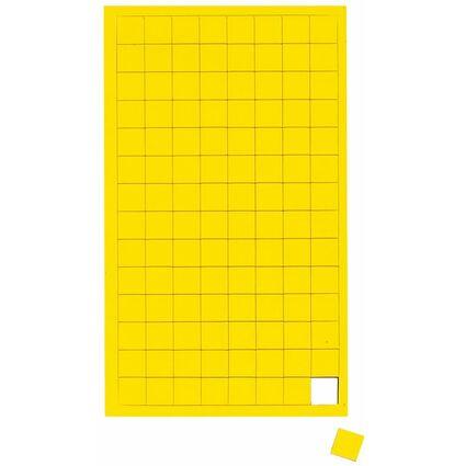 "MAUL Magnetsymbole ""Quadrat"", Maße: 10 x 10 mm, gelb"