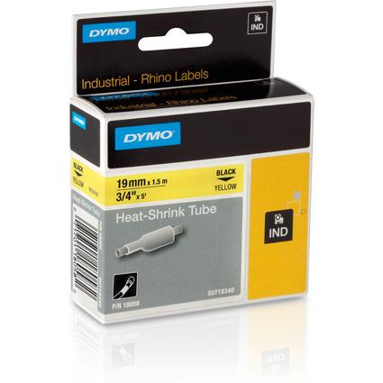 DYMO RHINO Heißschrumpfschlauch schwarz/gelb, 19 mm x 1,5 m