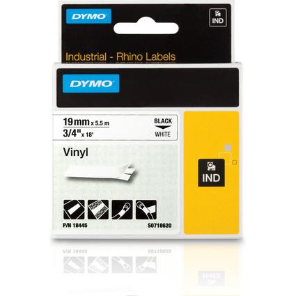 DYMO Vinyl-Schriftband, Breite: 19 mm, Länge: 5,5 m, weiß