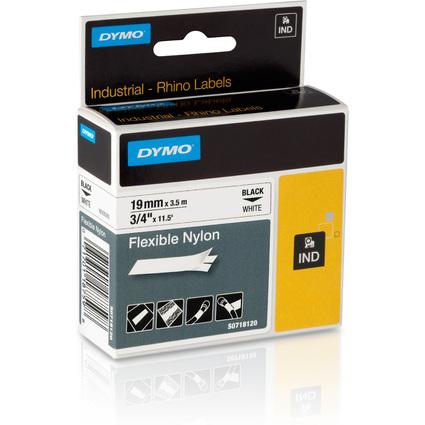 DYMO flexibles Nylonband, Breite: 19 mm, Länge: 3,5 m, weiß