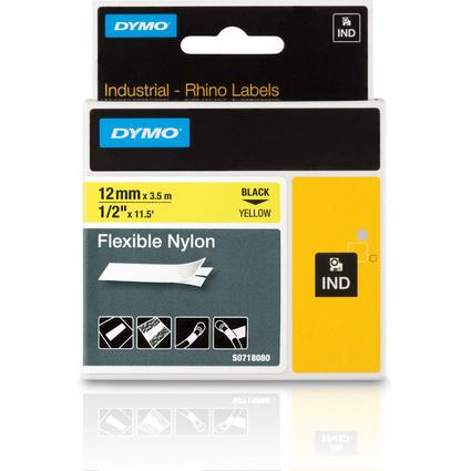 DYMO flexibles Nylonband, Breite: 12 mm, Länge: 3,5 m, gelb