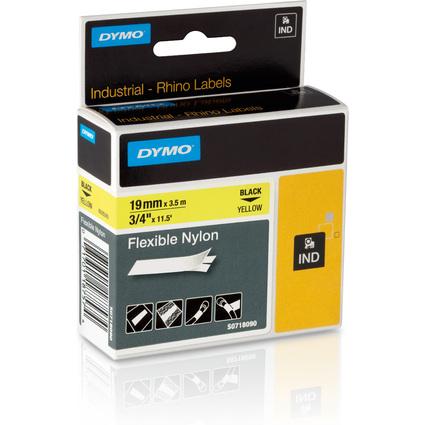 DYMO flexibles Nylonband, Breite: 19 mm, Länge: 3,5 m, gelb